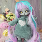 "Hoodies- Grey and heart - For Mouse Mimi /Bunnycorn Lamoon - Online shop ""Villi Tunes Doll"""
