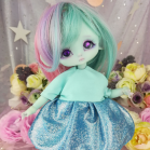 "Dress - Shiny Blue - For Bunnycorn Lamoon\Mimi - CHU - Online shop ""Villi Tunes Doll"""