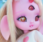 "Bunnycorn - Lamoon - candy pink - Online shop ""Villi Tunes Doll"""