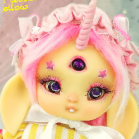 "Bunnycorn - Lamoon -  in colour  light lemon yellow - Online shop ""Villi Tunes Doll"""