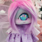 "Dress - Purple - pink robot - Online shop ""Villi Tunes Doll"""