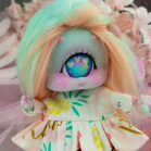 "Dress - pineapples and flamingo - Online shop ""Villi Tunes Doll"""