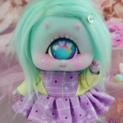"Dress - Purple - yellow robot - Online shop ""Villi Tunes Doll"""
