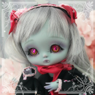 "OUTFIT  -  LOLITA - Gothic- black Strawberry - Online shop ""Villi Tunes Doll"""