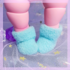 "Socks for Mizuki - plush light blue - Online shop ""Villi Tunes Doll"""