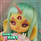 "Wig size 1/4 - LIGHT MINT - long - Online shop ""Villi Tunes Doll"""