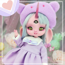 "Sailorfuku - Sakura -  Purple  - For Mouse Mimi /Bunnycorn Lamoon - Online shop ""Villi Tunes Doll"""