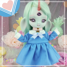 "Sailorfuku - Sakura -  Blue  - For Mouse Mimi /Bunnycorn Lamoon - Online shop ""Villi Tunes Doll"""