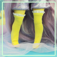 "Socks size 1\6 - lolita's yellow - Online shop ""Villi Tunes Doll"""