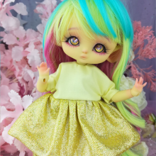 "Dress - Shiny Yellow - For Bunnycorn Lamoon\Mimi - CHU - Online shop ""Villi Tunes Doll"""