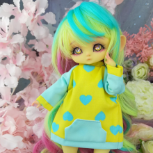 "Hoodies- Yellow and Hearts - For Mouse Mimi /Bunnycorn Lamoon - Online shop ""Villi Tunes Doll"""