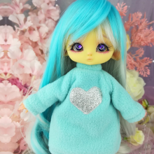 "Hoodies- Blue and heart - For Mouse Mimi /Bunnycorn Lamoon - Online shop ""Villi Tunes Doll"""
