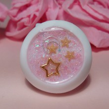 "Eye 50 mm - Pink & gold star with moon - Online shop ""Villi Tunes Doll"""