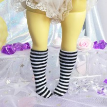 "Socks size 1\6 - black stripes - Online shop ""Villi Tunes Doll"""