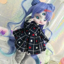 "Dress - black-blue & hart -Alice in wonderland For Bunnycorn Lamoon - Online shop ""Villi Tunes Doll"""