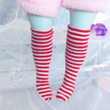 "Socks size 1\6 - red stripes - Online shop ""Villi Tunes Doll"""