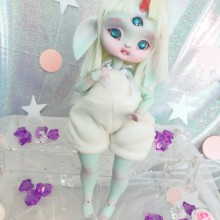 "jumpsuit white plush - For Bunnycorn Lamoon - Online shop ""Villi Tunes Doll"""