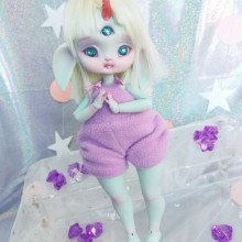 "jumpsuit purple plush - For Bunnycorn Lamoon - Online shop ""Villi Tunes Doll"""