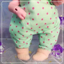 "Jumpsuit - mint in pink polka dots - Online shop ""Villi Tunes Doll"""