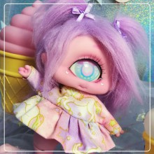 "Dress - Pink unicorn - Online shop ""Villi Tunes Doll"""