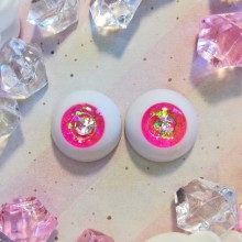 "eyes 16 -*Pink & silver Star* - Online shop ""Villi Tunes Doll"""