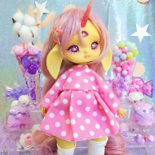 "Dress - Minni - polka dots - Online shop ""Villi Tunes Doll"""