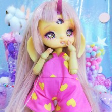 "jumpsuit Pink & yellow hearts - Online shop ""Villi Tunes Doll"""