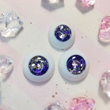 "eyes 16 - 14 mm - Tanzanite - Online shop ""Villi Tunes Doll"""