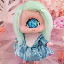 "Dress - Shiny - pnk and light blue - Online shop ""Villi Tunes Doll"""
