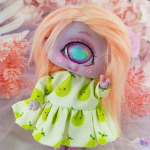 "Dress - Green pears - Online shop ""Villi Tunes Doll"""