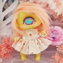 "Dress - Sweetie strawberries - Online shop ""Villi Tunes Doll"""