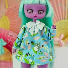 "Dress - Blue - TOTORO  - for Minami - Online shop ""Villi Tunes Doll"""