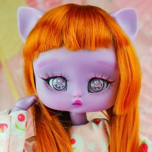 "Wig size 1/4 - COPPER RED - NEW! - Online shop ""Villi Tunes Doll"""