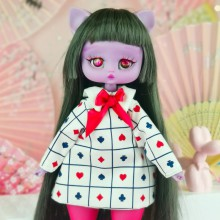 "Dress - white & hart -Alice in wonderland - Online shop ""Villi Tunes Doll"""