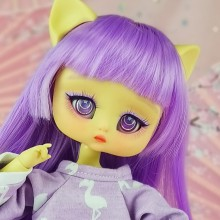 "Wig size 1/4 - KAWAII PURPLE - NEW! - Online shop ""Villi Tunes Doll"""