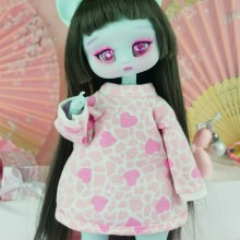 "Hoodie -  Stylish hearts - Online shop ""Villi Tunes Doll"""