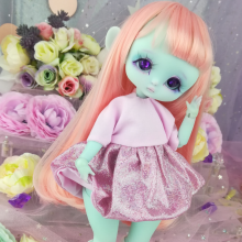 "Dress - Shiny Pink - For Bunnycorn Lamoon\Mimi - CHU - Online shop ""Villi Tunes Doll"""