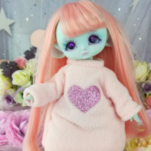 "Hoodies- Pink and heart - For Mouse Mimi /Bunnycorn Lamoon - Online shop ""Villi Tunes Doll"""