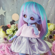 "Dress - Shiny purple and pink - For Bunnycorn Lamoon\Mimi - CHU - Online shop ""Villi Tunes Doll"""