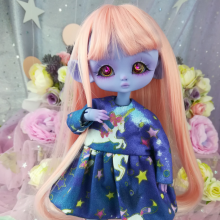 "Dress - Blue unicorn - For Mouse Mimi /Bunnycorn Lamoon - Online shop ""Villi Tunes Doll"""