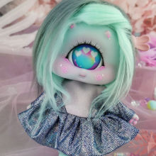 "Dress - Shiny - pnk and blue - Online shop ""Villi Tunes Doll"""