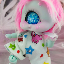 "Jumpsuit - short-  Rainbow pigs - Online shop ""Villi Tunes Doll"""