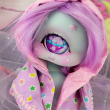 "HOOD - purple stars - Online shop ""Villi Tunes Doll"""