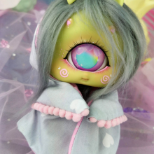 "HOOD - Grey hearts - Online shop ""Villi Tunes Doll"""