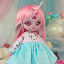 "Dress - Bunny pirates - LIGHT BLUE - Online shop ""Villi Tunes Doll"""