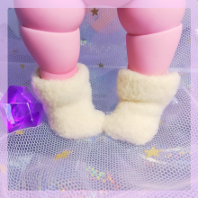 "Socks for Mizuki - plush white - Online shop ""Villi Tunes Doll"""