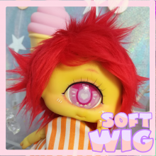 "Sft-Wig size 1/4 - red - short - Online shop ""Villi Tunes Doll"""