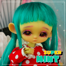 "Wig size 1/4 - SUPER MINT - long - Online shop ""Villi Tunes Doll"""