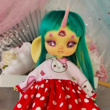 "Dress  - Bunny pirates - RED - Online shop ""Villi Tunes Doll"""