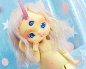 "Rabbit - Lamoon - light lemon yellow - Online shop ""Villi Tunes Doll"""
